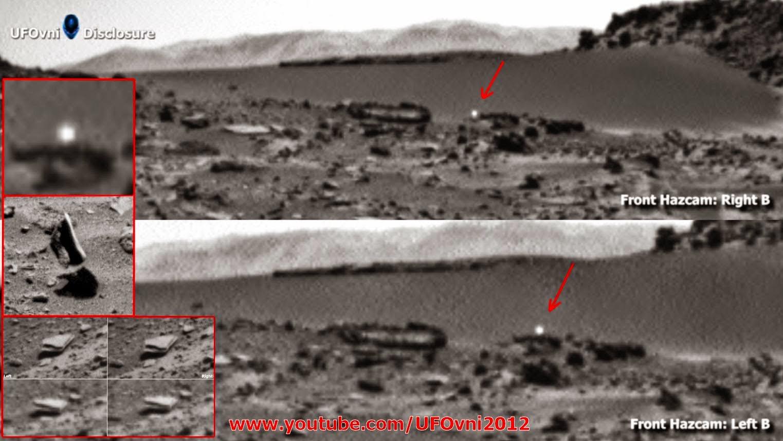 La NASA Curiosity Rover repéré OVNI Orb près de lévitation d'objet sur Mars