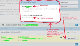 Cara Download Formulir VerVal NUPTK 2013 - 3