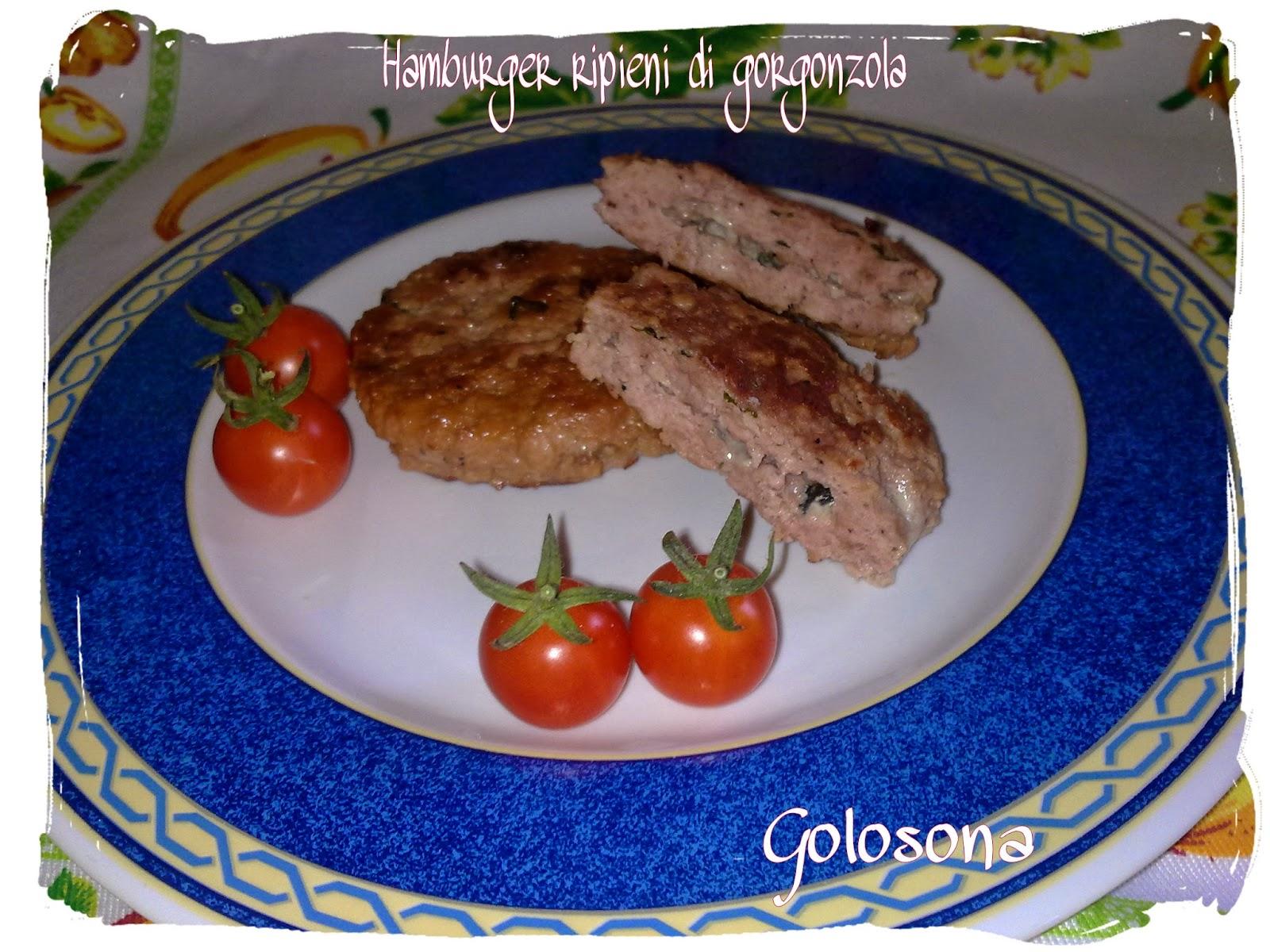 hamburger ripieni di gorgonzola
