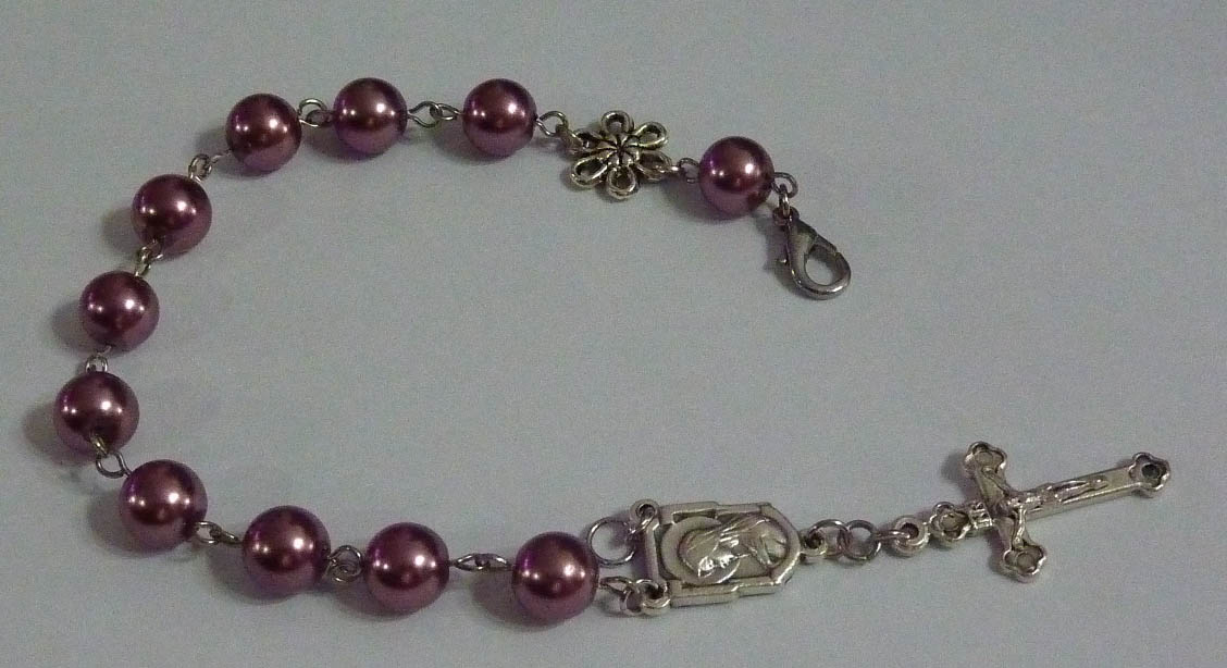 inspired stash rosary bracelet