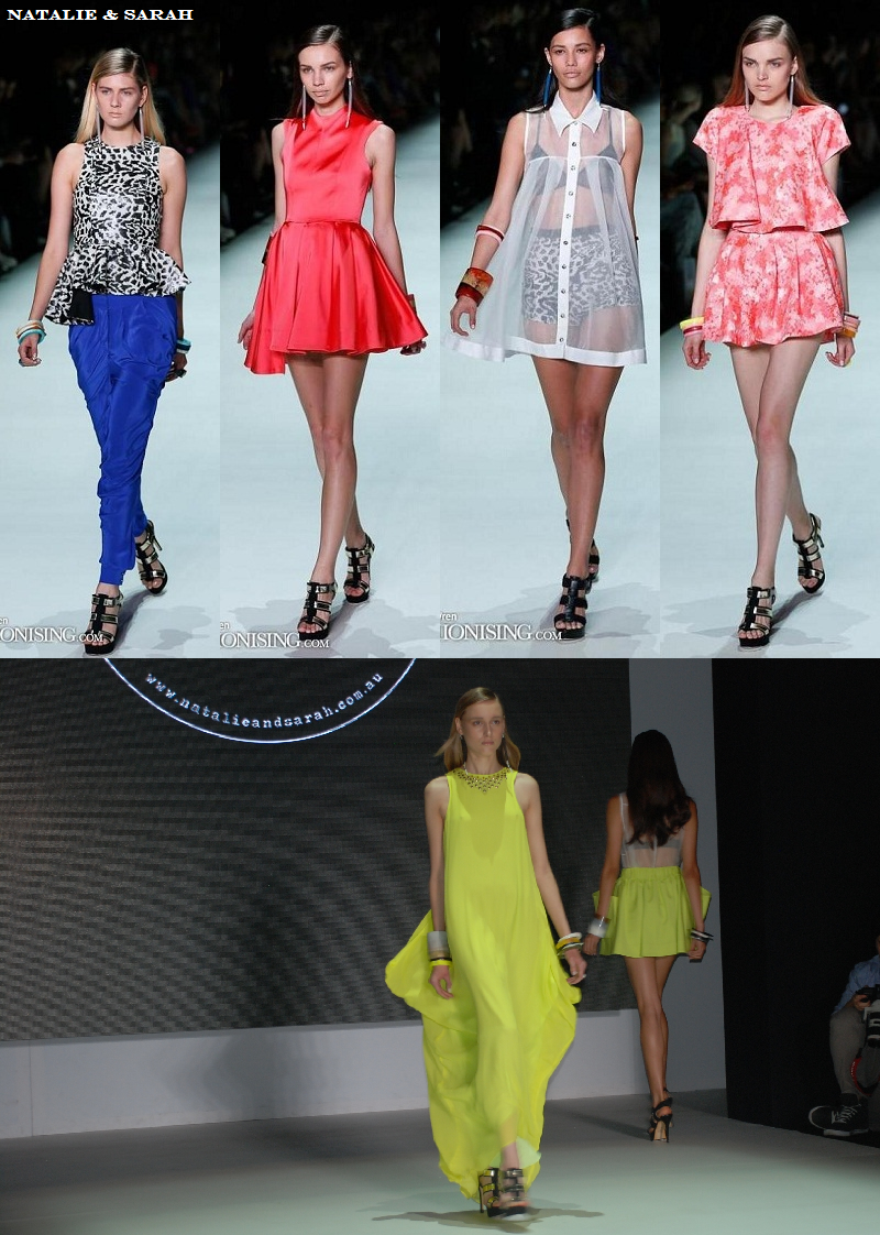 MBFWA, New Generation, Natalie & Sarah, SS 2013/14, runway, colourful, prints