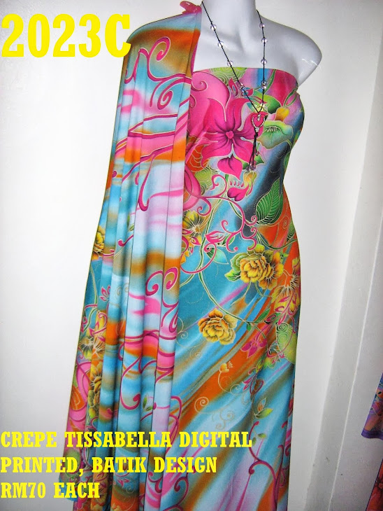 CTD 2023C: BATIK CREPE TISSABELLA DIGITAL PRINTED, EXCLUSIVE DESIGN, 4 METER