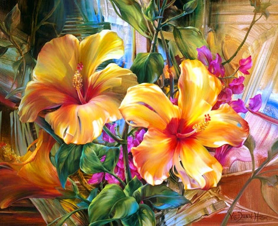 Bodegón Moderno con Flores Grandes | El club del arte, pinturas
