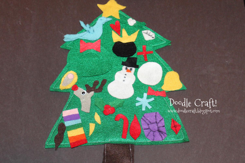 doodlecraft  christmas in july  felt advent calendar