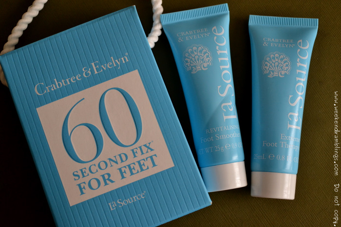 Crabtree and Evelyn La Source 60 Second Fix For Feet Skincare Beauty Blog Reviews Ingredients Extreme Foot Therapy Revitalizing Foot Smoother