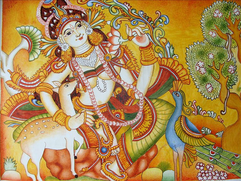 Kerala mural painting image for Creative mural art