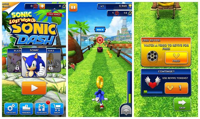 Sonic Dash v2.5.0.Go Apk + Datos SD Mod [aros ilimitados]