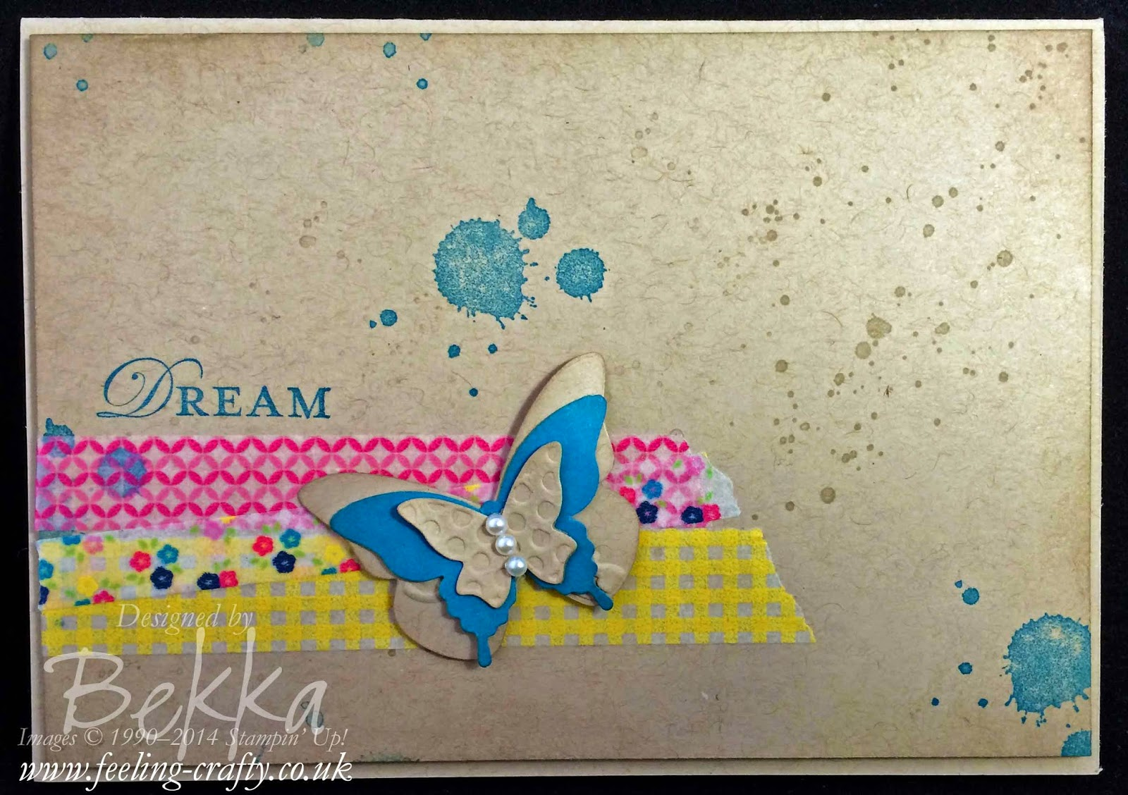 Loving Thoughts and Gingham Garden Dream Card by Bekka - check out her blog for lots of great Stampin' Up! projects from the UK