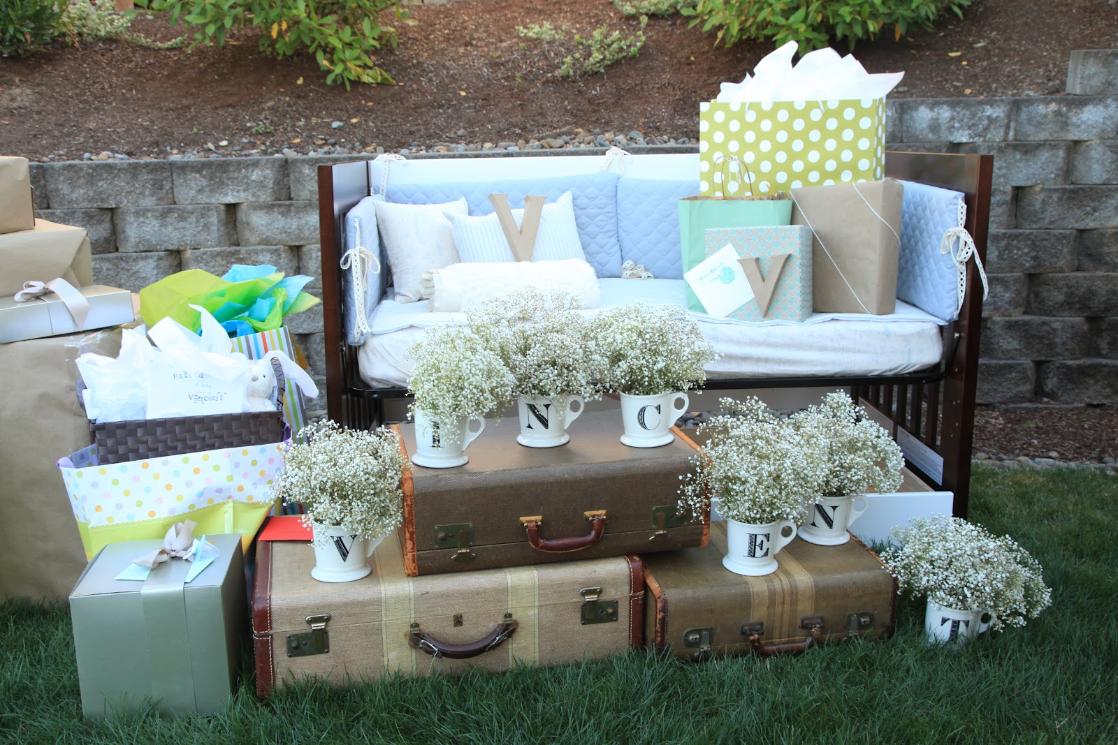 Attractive Rustic Outdoor Baby Shower