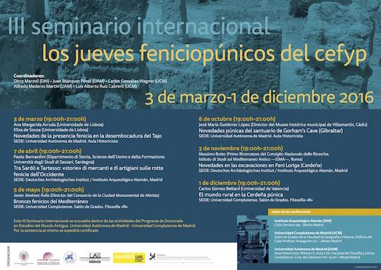 III Seminario Internacional Los Jueves Fenicio-Púnicos