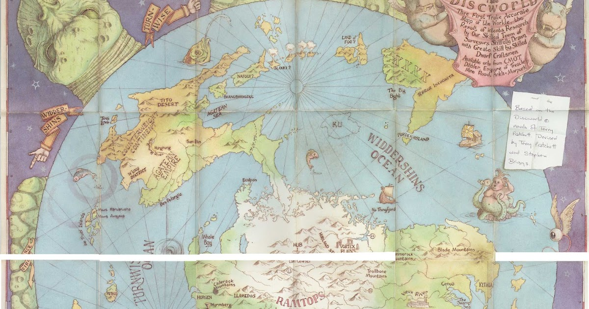 Disc World Map.Old Maps Expeditions And Explorations Discworld