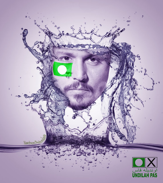 Johnny Depp sokong PAS - Foto manipulasi