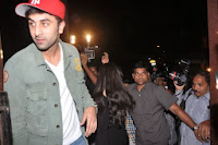 Ranbir with girlfriend Katrina Kaif at Wolf of Wall Street screening
