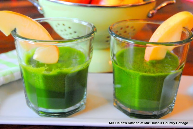 Pickled Tabasco Juice with Spinach and Apple, Serving  at Miz Helen's Country Cottage