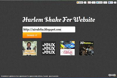 Harlem Shake Ala Blog