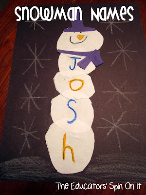 Snowman Name Activity for Kids