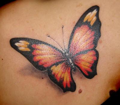 Tatuaje mariposa 3D