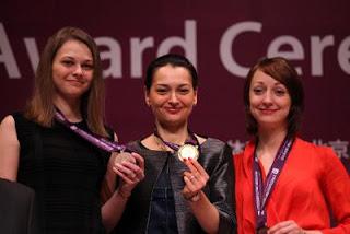 Anna Muzychuk, Alexandra Kosteniuk et Elizabeth Paehtz © site officiel