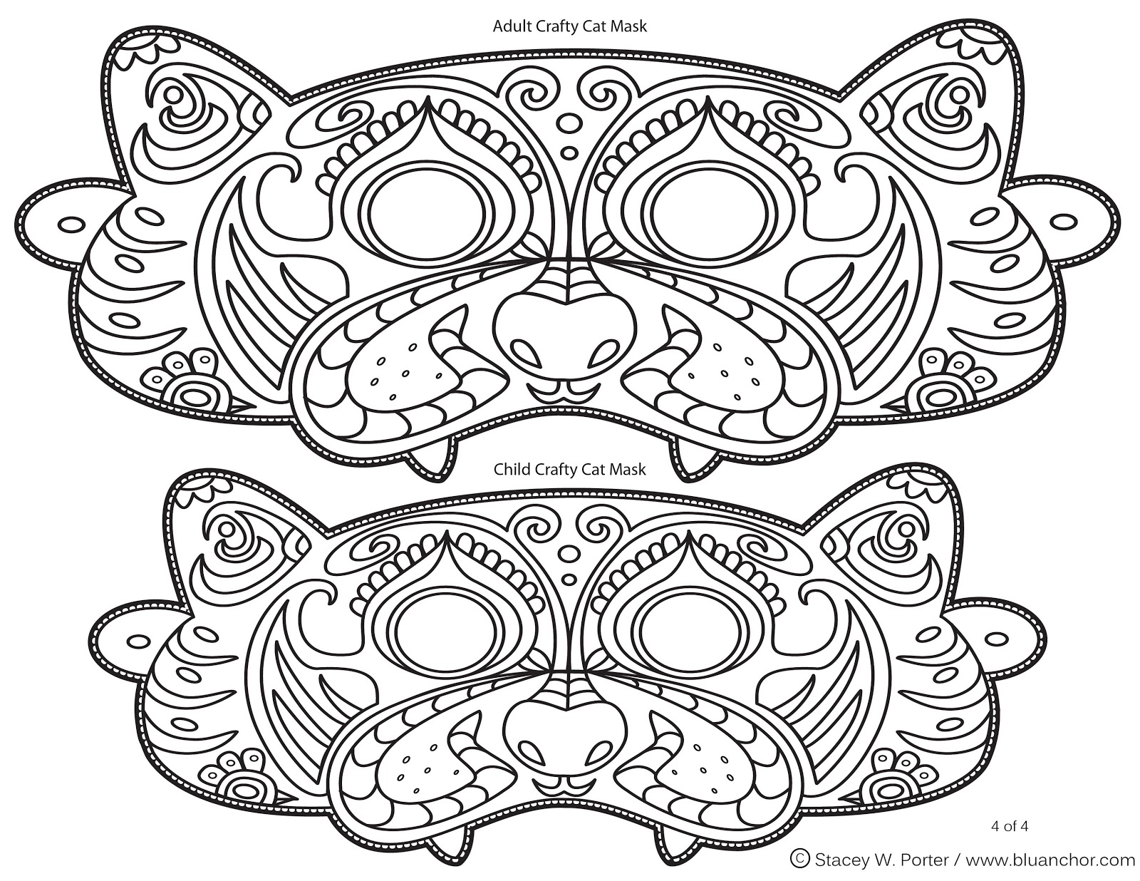 free halloween printable activity sheet 4 of 4 cat mask
