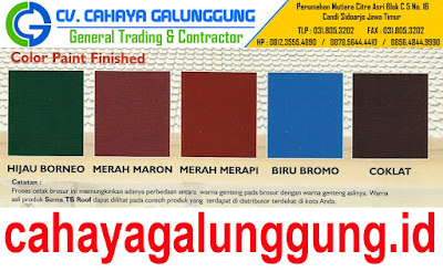 WARNA GENTENG METAL SUMA TB ROOF