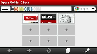 opera mobile v10 beta working on symbian belle nokia n8