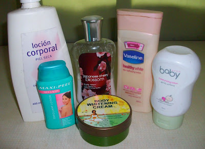 Locion Corporal, Bath & Body Japanese Cherry Blossom, Vaseline Healthy White Lotion, Avon Baby Moisturizing Lotion, Maxi Peel Neck & Body Exfoliant Lotion, Aromacology Whitening Body Cream