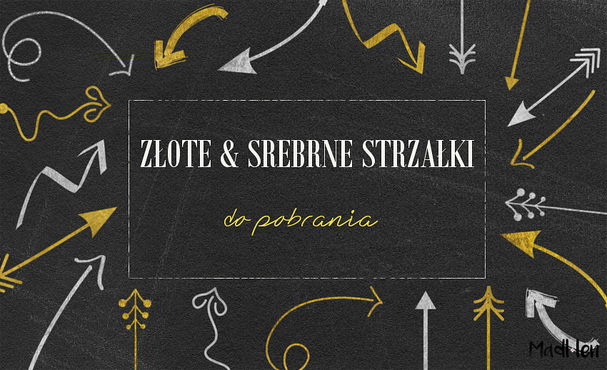 silver and gold arrows for download, srebrne i złote strzałki do pobrania