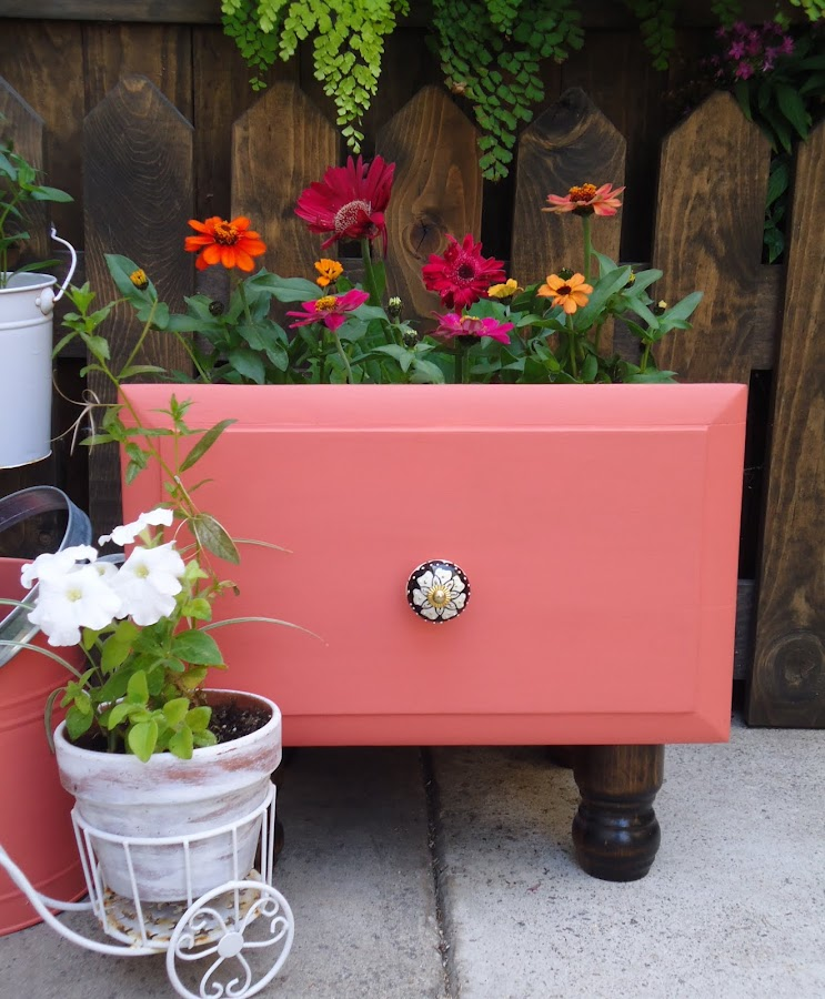 Vintage Drawer Planter - Available $50