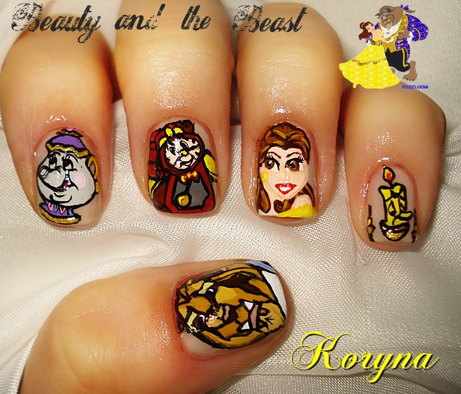 The Nail Art And Beauty Diaries: My Nails: Beauty And The Beast Nail Art Contest Entry