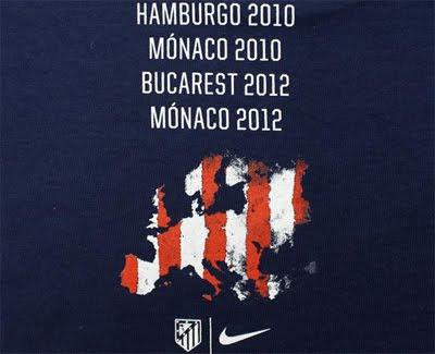Atlético de Madrid camiseta celebración Supercopa 2012 Nike