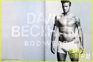 David Beckham sexy bodywear for H&M super bowl ad