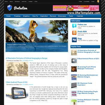 Protection blogger template. template 3 column footer for blog. magazine style blogger template. blogger template iwth image slideshow