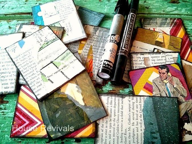 BURN VISION artist trading card on handmade paper