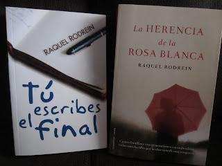 Libros Tú escribes el final y La herencia de la rosa blanca de Raquel Rodrein