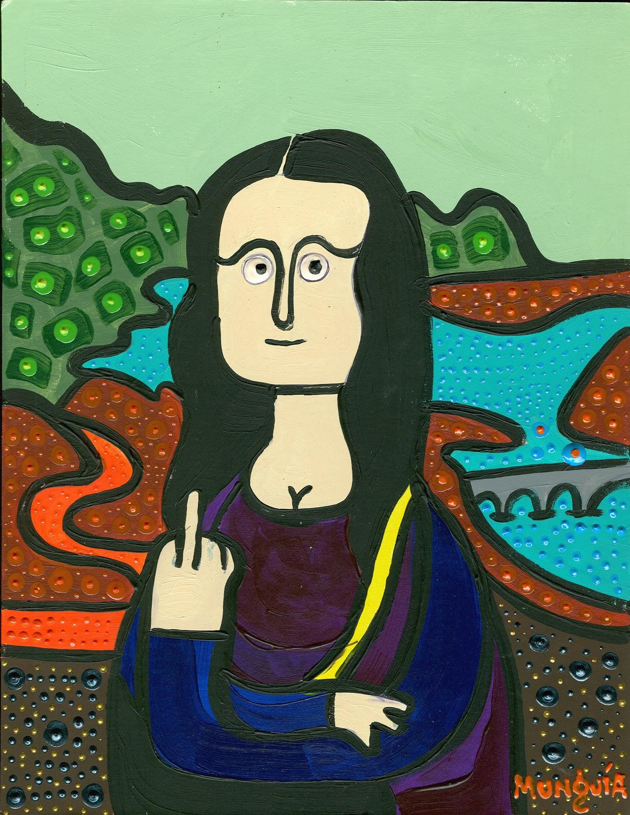 Parodias de Pinturas Famosas: Mona Lisas por Munguía