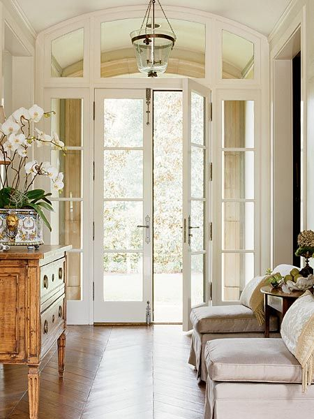Elegant Foyer Entrances : Lamb blonde elegant entryways