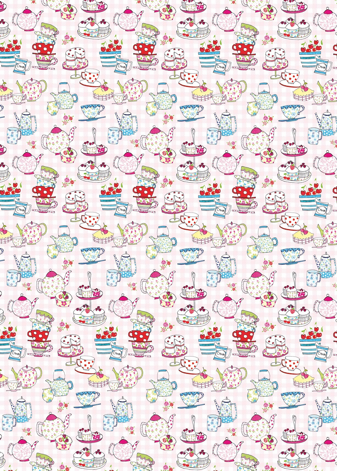 Paper salad afternoon tea inspired gift wrap design for How to wrap presents with wrapping paper