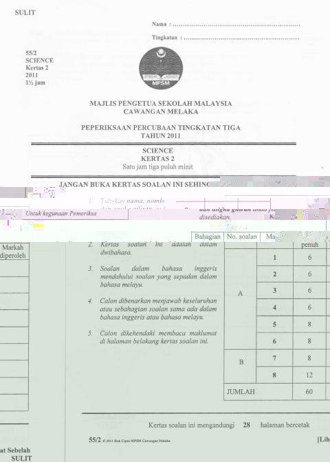 science pmr 2013 melaka trial pmr 2011 calon calon pmr 2013 smk taman