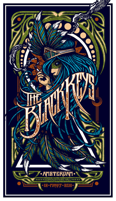 Brad Klausen Black Keys Poster Illustration
