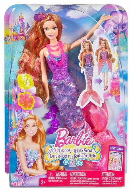 TOYS : JUGUETES - BARBIE y La Puerta Secreta   Hada y Sirena | Muñeca  Producto Oficial 2014 | Mattel BLP25 | A partir de 3 años