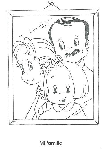 Dibujos Para Colorear De La Familia