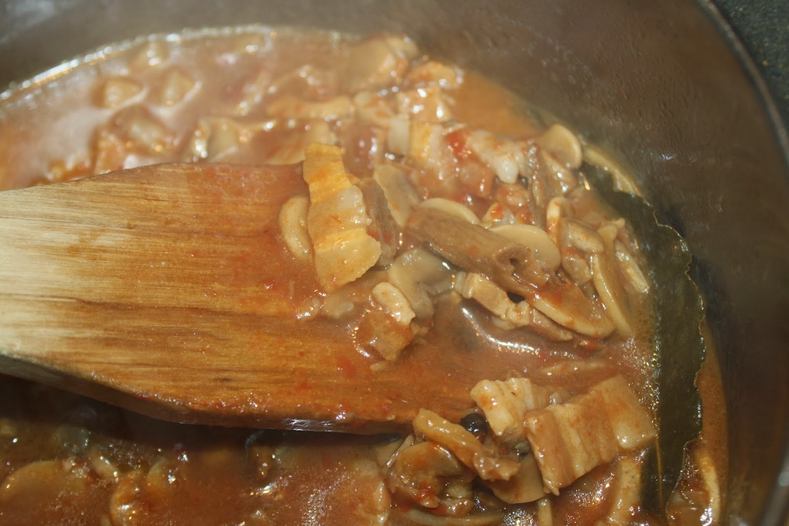 salsa funghi pancetta