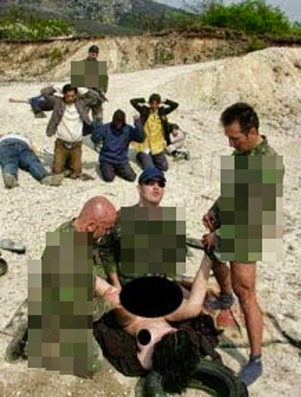8 Gambar kekejaman tentera perkosa wanita di hadapan suami