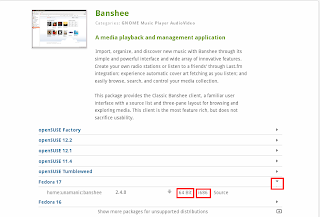 openSUSE Software Banshee