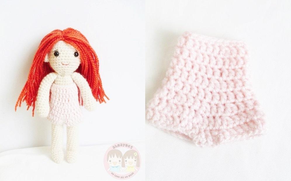 Yaprak amigurumi: Free pattern : Yapraks pink pajamas outfit