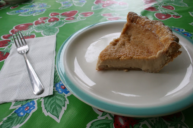 Hoosier Mama's Hoosier Sugar Cream Pie Slice