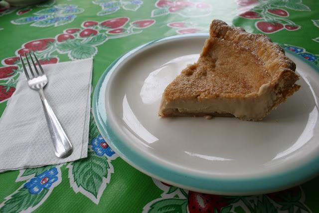 Hoosier Mama's Hoosier Sugar Cream Pie Slice