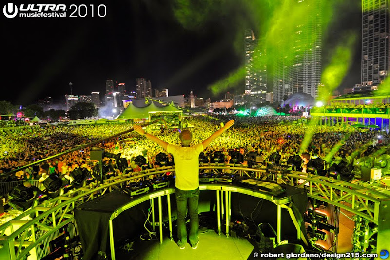 Armin Van Buuren on the main stage at Ultra Music Festival, 2010, Miami FL. Copyright 2010 Robert Giordano