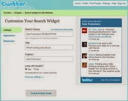 twitter widget settings