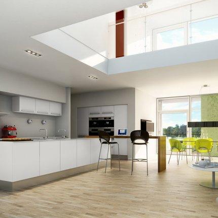 C mo tener una isla central en la cocina moderna casas for Cocinas modernas con isla central
